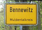 Schild von Bennewitz Muldentalkreis